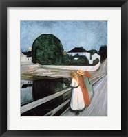 Framed Girls on the Bridge, 1901