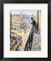 Framed Rue Lafayette, Paris, 1891