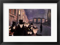 Framed Evening on Karl Johan, 1892