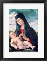 Framed Madonna and Child in a Landscape, c1480-1485