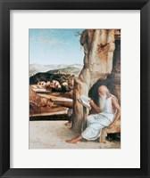 Framed St Jerome Reading in a Landscape, c1450-1516
