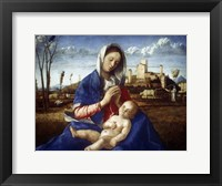 Framed Madonna of the Meadow, c1500