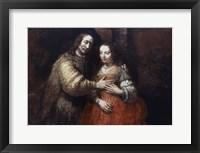 Framed Jewish Bride, (The Loving Couple), 1667