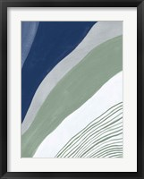 Blue Green Abstract IV Framed Print