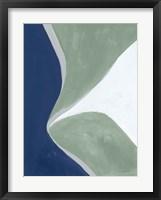 Blue Green Abstract III Framed Print