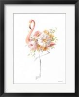 Floral Flamingo II Framed Print