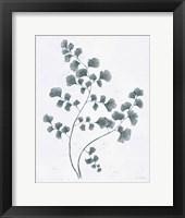 Soft Summer Sketches IV Blue Framed Print