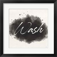 Laundry Splash I Framed Print