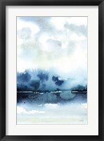 Framed Deep Blue Lake