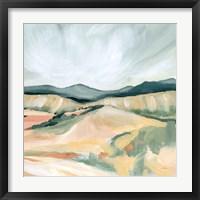 Framed Vermillion Landscape II