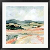 Framed Vermillion Landscape I