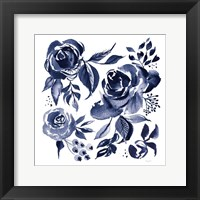Delft Delight IV DB No Words Framed Print