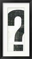 Punctuated Black II Framed Print