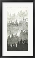 Mountainscape Silver Panel III Framed Print