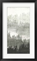 Mountainscape Silver Panel II Framed Print