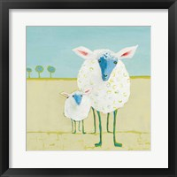 Framed Colorful Sheep