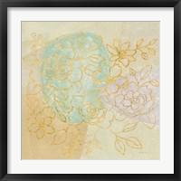 Mid Mod Sophisticated Floral I Framed Print