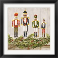 Framed Nutcrackers on a Mantel