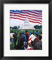 Framed 1963 March on Washington