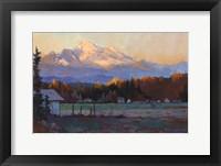 Framed Late October Light Mt. Baker