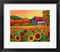 Framed Bright Sunflower Day