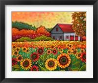 Framed Bright Sunflower Day