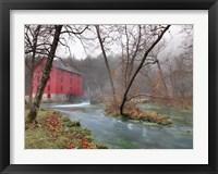 Framed Red Grist Mill
