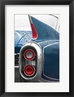 Framed 1960 Blue Cadillac
