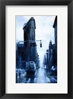 Framed West 23rd Street & 5th Avenue, rain (Flatiron Building)