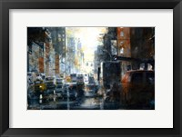Framed West 14th Street, rain