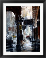 Framed Lincoln Tunnel & 10th Avenue, rain