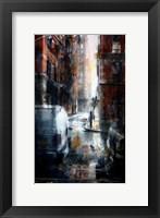 Framed Jersey Street, rain