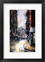 Framed Doyers Street at Pell, rain