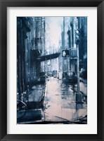 Framed Crosby Street from Spring, rain