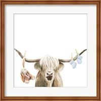 Framed Highland Cow Baby Boy