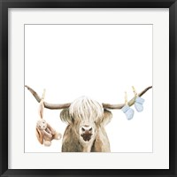 Framed Highland Cow Baby Boy