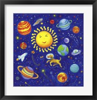 Framed Solar System Dog