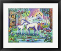 Framed Unicorn Foal Castle