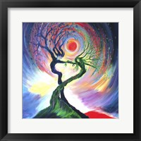 Framed Dancing Tree Spirits