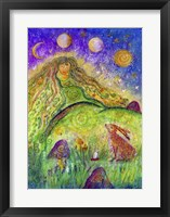 Framed Goddess Ostara And The Spring Hare