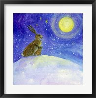 Framed Hare And His Mother Moon Gazing