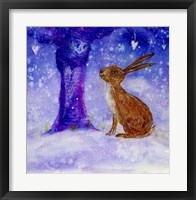 Framed Hare And The Wise Old Apple Tree