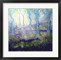 Framed Hare In Bluebell Woods With Tree Goddess