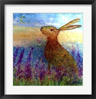 Framed Hare In Spring Flowers
