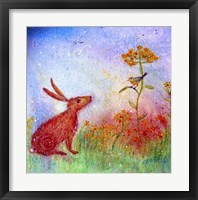 Framed Hare And The Song Bird