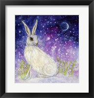 Framed Winter Hare And The Moon