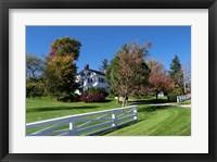 Framed American Homestead In Autumn