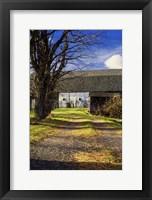 Framed Abandon Barn And Lane