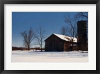 Framed Abandon Farm In Winter