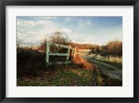 Framed Take The Drive Down Autumn Lane
